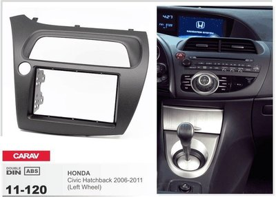 Carav Carav 11-120   2DIN переходная рамка Honda Civic Hatchback 2006-2011 (руль слева) (фото, вид 1)
