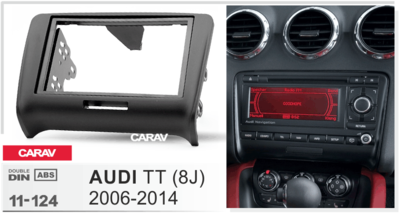 Carav Carav 11-124   2DIN переходная рамка Audi TT (8J) 2007-2014 (фото, вид 2)