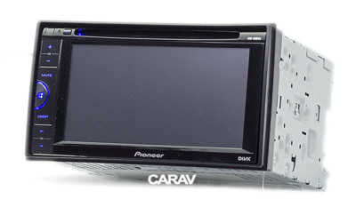 Carav Carav 11-123 | 2DIN переходная рамка Nissan Almera, Latio, Sunny 2012+, Tiida 2004-2010, X-Trail 2001-2014, Qashqai 2007-2013, Patrol 1997-2009, Juke 2010+, Cube 2008+, Versa 2007-2014 (фото, вид 2)
