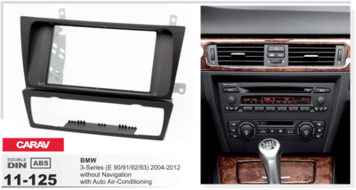 Carav Carav 11-125 | 2DIN переходная рамка BMW 3-Series (E90/91/92/93) 2004-2012 (с климат-контролем / без навигации) (фото, вид 1)