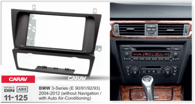 Carav Carav 11-125 | 2DIN переходная рамка BMW 3-Series (E90/91/92/93) 2004-2012 (с климат-контролем / без навигации) (фото, вид 2)