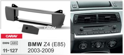 Carav Carav 11-127   1DIN переходная рамка BMW Z4 (E85) 2003-2009 (фото, вид 1)