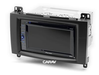 Carav Carav 11-133 | 2DIN переходная рамка Mercedes-Benz A-klasse (W169) 2004-2012, В-klasse (W245) 2005-2011, Vito 2006+, Viano 2008+ (фото, вид 3)