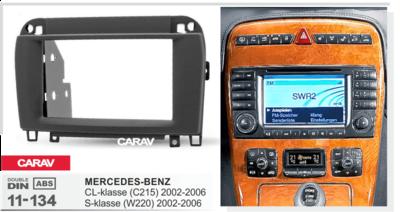 Carav Carav 11-134   2DIN переходная рамка Mercedes-Benz CL-klasse (C215) 2003-2006; S-klasse (W220) 2002-2005 (фото, вид 2)