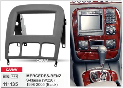Carav Carav 11-135 | 2DIN переходная рамка Mercedes-Benz S-klasse (W220) 1998-2005 (фото, вид 1)