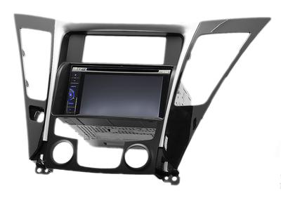 Carav Carav 11-139 | 2DIN переходная рамка Hyundai Sonata, i-45 (YF) 2010-2014 (с климат-контролем) (фото, вид 1)