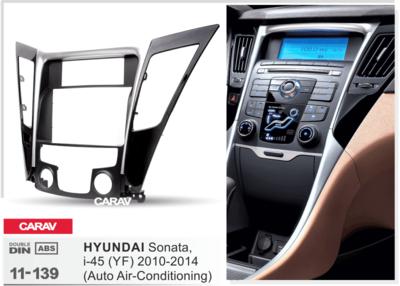 Carav Carav 11-139 | 2DIN переходная рамка Hyundai Sonata, i-45 (YF) 2010-2014 (с климат-контролем) (фото, вид 3)