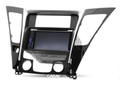 Carav Carav 11-139 | 2DIN переходная рамка Hyundai Sonata, i-45 (YF) 2010-2014 (с климат-контролем) (фото, вид 4)