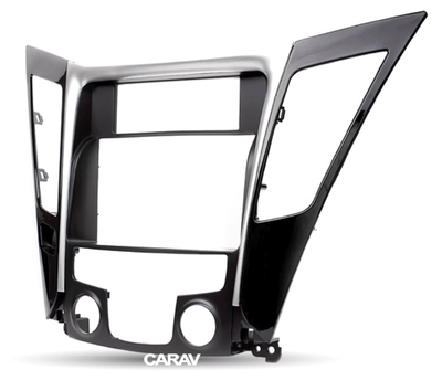 Carav Carav 11-139 | 2DIN переходная рамка Hyundai Sonata, i-45 (YF) 2010-2014 (с климат-контролем) (фото, вид 6)