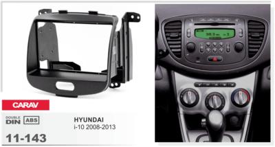 Carav Carav 11-143   2DIN переходная рамка Hyundai i-10 2008-2013 (фото, вид 1)