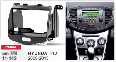 Carav Carav 11-143   2DIN переходная рамка Hyundai i-10 2008-2013 (фото, вид 2)