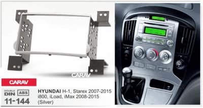 Carav Carav 11-144   2DIN переходная рамка Hyundai H-1, Starex 2007-2015, i800, iMax 2008-2015 (фото, вид 1)