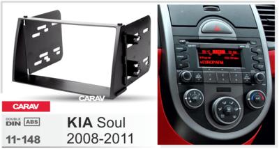 Carav Carav 11-148 | 2DIN переходная рамка KIA Soul 2008-2011 (фото, вид 1)