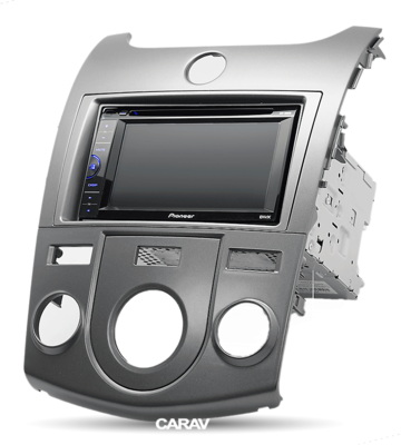 Carav Carav 11-147   2DIN переходная рамка KIA Cerato (TD), Forte (TD), Naza Forte 2009-2012 (без климат-контроля) (фото, вид 2)
