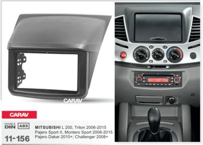 Carav Carav 11-156   2DIN переходная рамка Mitsubishi L200, Triton 2006-2015, Pajero Sport II 2008-2015, Challenger 2008+, Pajero Dakar 2010+ (фото, вид 2)