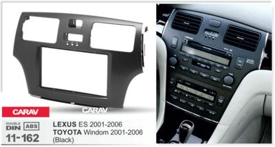 Carav Carav 11-162 | 2DIN переходная рамка Toyota Windom 2001-2006 / Lexus ES 2001-2006 (фото, вид 1)