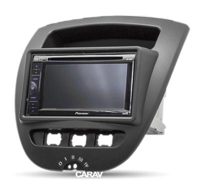 Carav Carav 11-167   2DIN переходная рамка Toyota Aygo 2005-2014, Peugeot (107) 2005-2014, Citroen C1 2005-2014 (фото, вид 2)