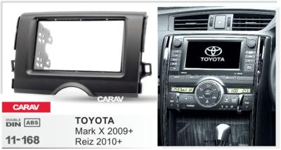 Carav Carav 11-168 | 2DIN переходная рамка Toyota Mark X 2009+, Reiz 2010+ (фото, вид 2)