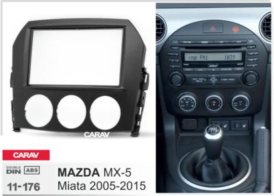 Carav Carav 11-176 | 2DIN переходная рамка Mazda MX-5, Miata 2005-2015 (фото, вид 1)