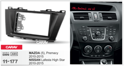 Carav Рамка MAZDA (5), Premacy) 2010-2015 / NISSAN Lafesta Highway Star 2011-2015 (CARAV 11-177) (фото, вид 1)