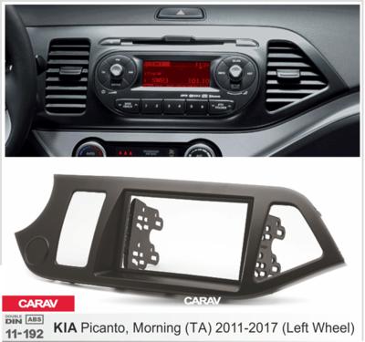 Carav Рамка KIA Picanto (TA), Morning (TA) 2011-2017 (руль слева) (CARAV 11-192) (фото, вид 1)