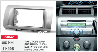 Carav Рамка TOYOTA bB 2005+ / SUBARU Dex 2008+ / DAIHATSU Coo 2005+; Materia 2006-2011 (CARAV 11-198) (фото, вид 1)