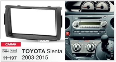 Carav Carav 11-197   2DIN переходная рамка Toyota Sienta 2003-2015 (фото, вид 2)
