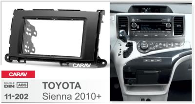 Carav Рамка TOYOTA Sienna 2010-2014 (CARAV 11-202) (фото, вид 1)