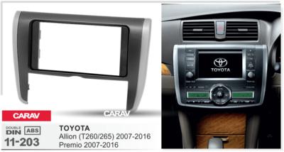 Carav Рамка TOYOTA Allion (T260/265), Premio 2007-2016 (CARAV 11-203) (фото, вид 1)