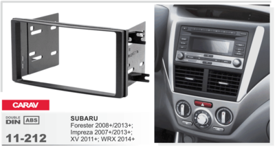 Carav Carav 11-212   2DIN переходная рамка Subaru Forester 2008+/2013+; Impreza 2007+/2013+; XV 2011-2017; WRX 2014+ (фото, вид 1)