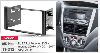 Carav Carav 11-212   2DIN переходная рамка Subaru Forester 2008+/2013+; Impreza 2007+/2013+; XV 2011-2017; WRX 2014+ (фото, вид 2)