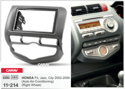 Carav Рамка HONDA Fit, Jazz 2002-2008 (с климат-контролем / руль справа) (CARAV 11-214) (фото, вид 2)