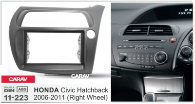 Carav Рамка HONDA Civic Hatchback 2006-2011 (руль справа) (CARAV 11-223) (фото, вид 3)