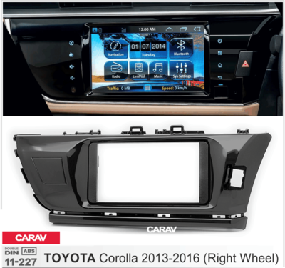 Carav Рамка TOYOTA Corolla 2013-2017 (руль справа) (CARAV 11-227) (фото, вид 4)