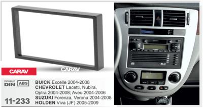 Carav Carav 11-233   2DIN переходная рамка Suzuki Forenza, Verona 2004-2008, Chevrolet Lacetti, Nubira, Optra 2004-2008, Aveo 2004-2006, Buick Excelle 2004-2008, Holden Viva (JF) 2005-2009 (фото, вид 3)