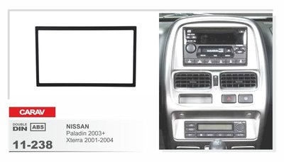 Carav Carav 11-238 | 2DIN переходная рамка Nissan Navara 1997-2005, NP300 2008-2013, Paladin 2003+ (фото, вид 3)