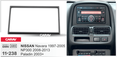 Carav Carav 11-238 | 2DIN переходная рамка Nissan Navara 1997-2005, NP300 2008-2013, Paladin 2003+ (фото, вид 4)