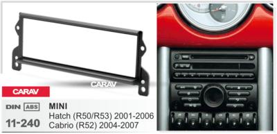 Carav Рамка MINI Hatch (R50/R53) 2001-2006; Cabrio (R52) 2004-2007 (CARAV 11-240) (фото, вид 4)