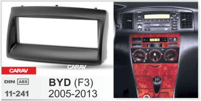 Carav Carav 11-241 | 1DIN переходная рамка BYD F3 2005-2013 (фото, вид 1)
