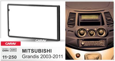 Carav Carav 11-250   2DIN переходная рамка Mitsubishi Grandis 2003-2011 (фото, вид 1)