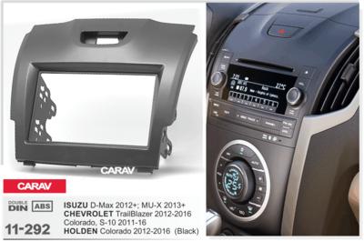 Carav Рамка ISUZU D-Max 2012+; MU-X 2013+ / CHEVROLET TrailBlazer, S-10 2011-2016 / HOLDEN Colorado 2012-2016 (CARAV 11-292) (фото, вид 1)