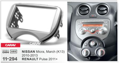 Carav Рамка NISSAN Micra, March (K13) 2010-2013 / RENAULT Pulse 2011+ (CARAV 11-294) (фото, вид 1)