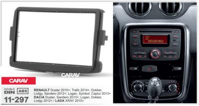 Carav Carav 11-297   2DIN переходная рамка Renault Duster 2010+, Logan 2013+, Sandero 2012+, DACIA Duster 2013+, Logan, Dokker, Lodgy 2012+, LADA XRAY 2015+ (фото, вид 2)