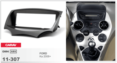 Carav Carav 11-307 | 1DIN переходная рамка Ford Ka 2008-2016 (фото, вид 1)