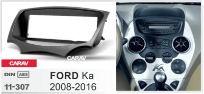 Carav Carav 11-307 | 1DIN переходная рамка Ford Ka 2008-2016 (фото, вид 2)