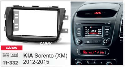 Carav Carav 11-332 | 2DIN переходная рамка KIA Sorento (XM) 2012-2015 (фото, вид 2)