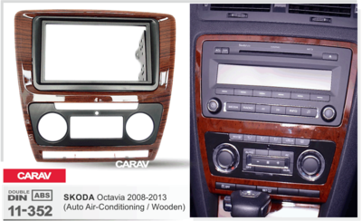 Carav Рамка SKODA Octavia 2008-2013 (с климат-контролем) (CARAV 11-352) (фото, вид 3)