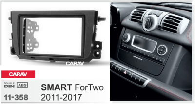 Carav Рамка SMART ForTwo 2011-2017 (CARAV 11-358) (фото, вид 3)