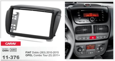 Carav Рамка OPEL Combo Tour (D) 2011+ / FIAT Doblo (263) 2010-2015 (CARAV 11-376) (фото, вид 1)