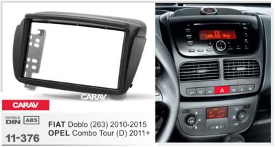 Carav Рамка OPEL Combo Tour (D) 2011+ / FIAT Doblo (263) 2010-2015 (CARAV 11-376) (фото, вид 2)